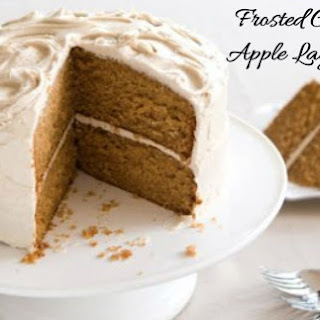 Frosted Caramel Apple Cake.