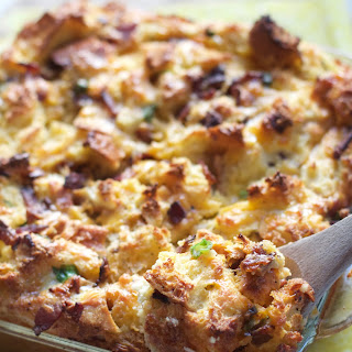 Spicy Bacon Egg & Cheese Strata