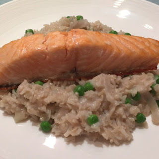 Salmon With Coconut Rice.