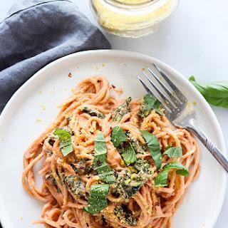 Pasta with Creamy Vegan Tomato Sauce