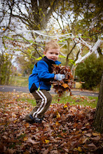 """Photo: """"You better watch out Daddy!"""" There is something truly great about playing with the fallen leaves in the yard! I love getting all 4 seasons like we do here in Western New york :)  #PortraitTuesday by +Laura Balc #breakfastclub by +Gemma Costa & +Andrea Martinez"""