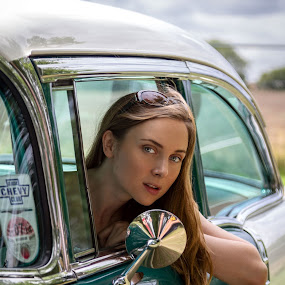 looking at you by Paul Phull - People Portraits of Women ( car, faye, green, portrait )