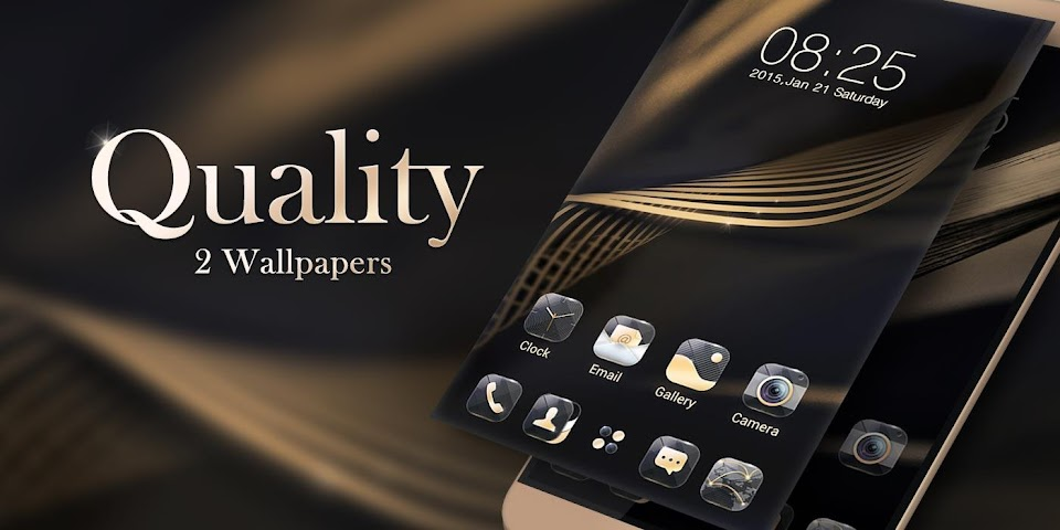 android Quality GO Launcher Theme Screenshot 5