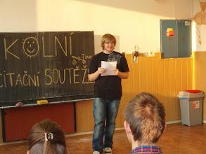 Photo: Školní kolo recitační soutěže - Marcel z 2. A.