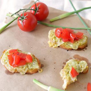 Garlic Scape Pesto Crostini Recipe