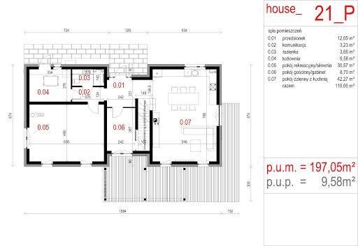 House 21 - Rzut parteru