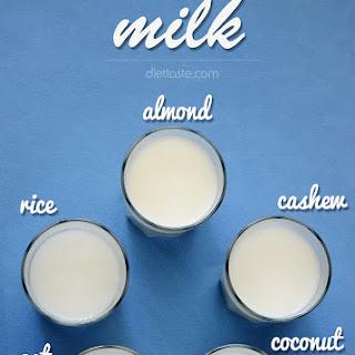 Shortcut Homemade Milk (Almond, Coconut, Cashew, Oat, Rice).
