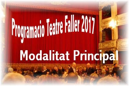 Programacio Teatre Faller 2017 día 13 de Novembre #TeatreFaller