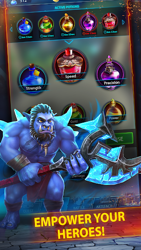 Code Triche Hero Ring u2013 epic 3D tap idler fantasy time killer APK MOD screenshots 4