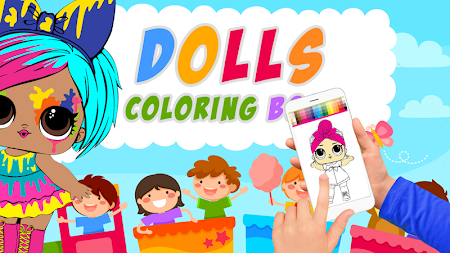 Dolls Coloring Book Pages For Girls APK screenshot thumbnail 1