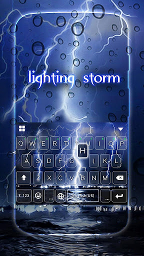 Lighting Storm Kika Keyboard Screenshot