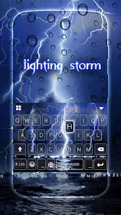 Lighting Storm Keyboard Theme - náhled