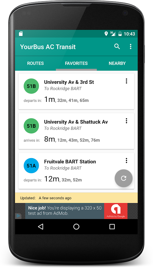 YourBus AC Transit- screenshot