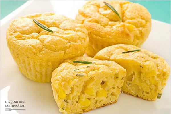Mini Rosemary Corn Muffins Recipe