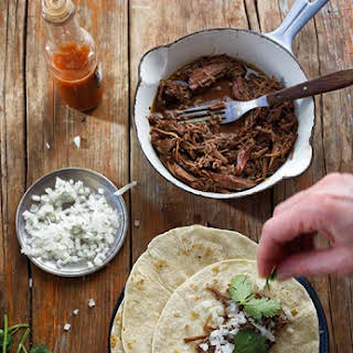 Slow Cooker Barbacoa Tacos.