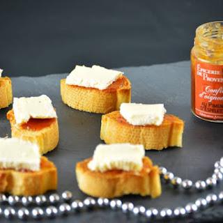 Camembert Bites on Onion Confit.