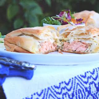 Salmon Filo Pastries.