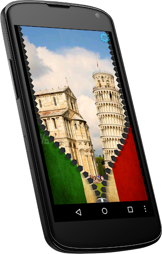Italy flag zipper lock screen