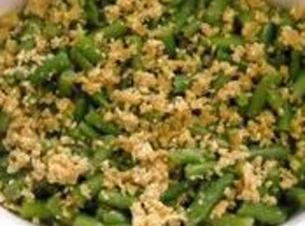 Garlic Baked Green Beans Recipe
