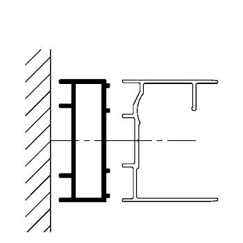 Profilé de compensation, 17 mm, alu nature, pour portes de la série Phoenix