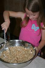 Photo: Helping Kaylee make granola