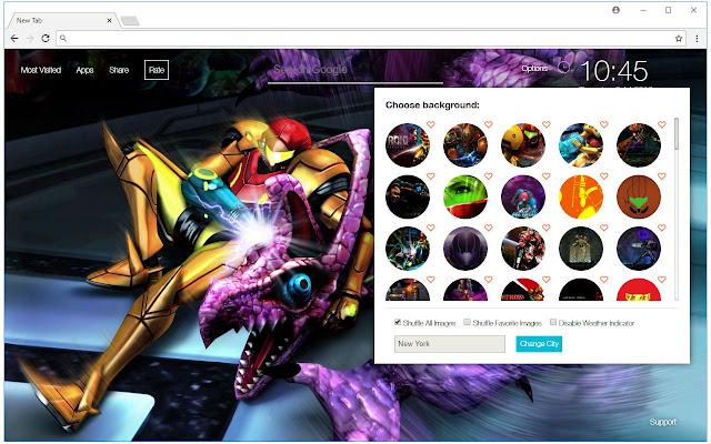 Metroid Wallpapers HD New Tab - freeaddon.com