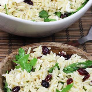Cranberry & Feta Orzo Pasta Salad