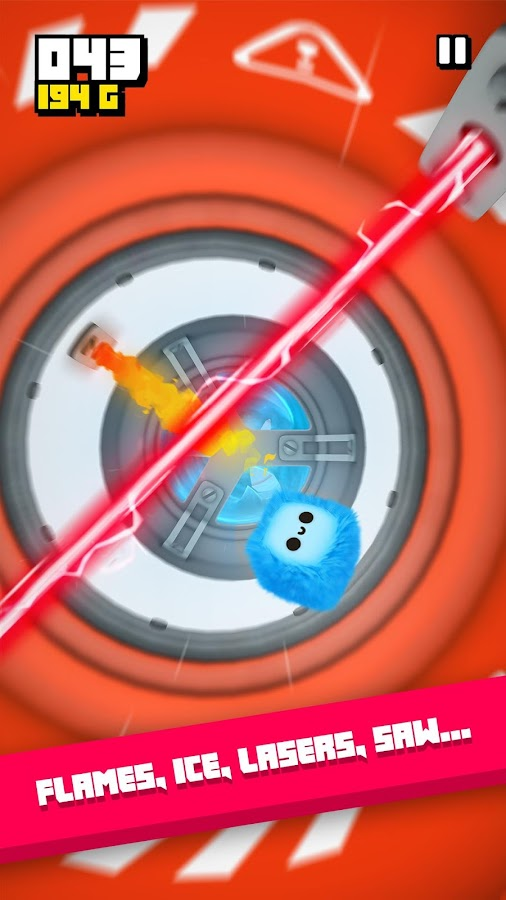 Fluffy Fall: Fly Fast to Dodge the Danger! – zrzut ekranu