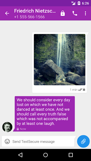 1 TextSecure Private Messenger App screenshot