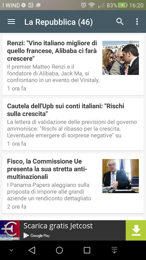 Ultime notizie italiane android apps on google play for Ultime notizie parlamento italiano