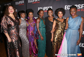 Photo: Eclipsed. De izquierda a derecha: Liesl Tommy, Zainab Jah, Akosua Busia, Lupita Nyong'o, Saycon Sengbloh, Pascale Armand and Danai Gurira