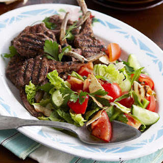 Lamb Chops with Fattoush.