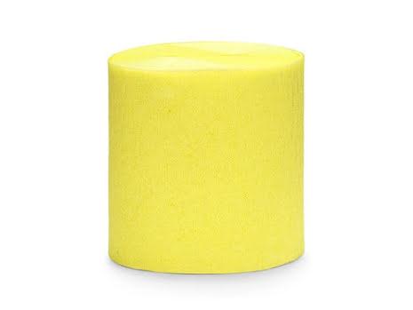 4-pack Crepepapper på rulle - gul