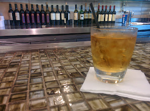 Photo: Some pre-flight drinks before the flight at JFK