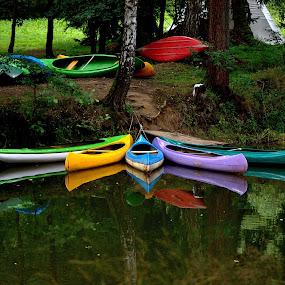 by Helena Jirasová - Transportation Other ( canoe )