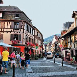 Ribeauvillé, Alsace by Francis Xavier Camilleri - City,  Street & Park  Historic Districts