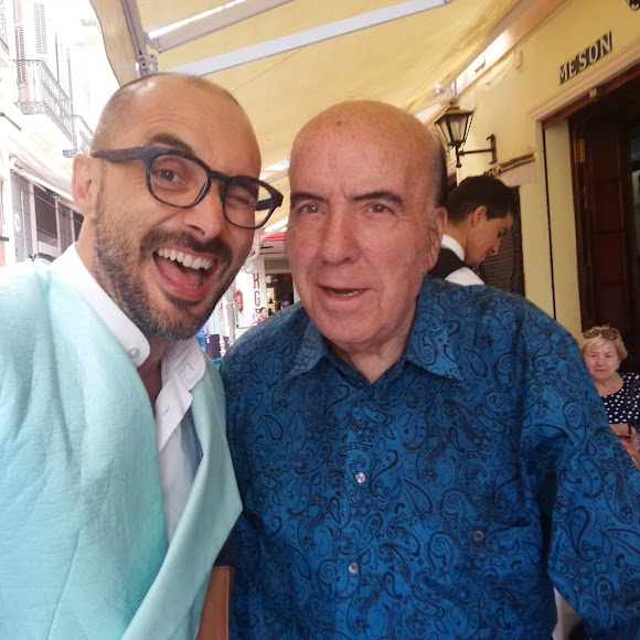 Sergio Morante junto a Chiquito de la Calzada.