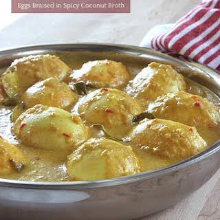 Gulai Telur Padang - Eggs Braised in Spicy Coconut Broth.