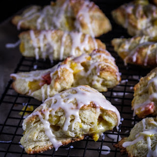 Peach Scones with Bourbon Glaze