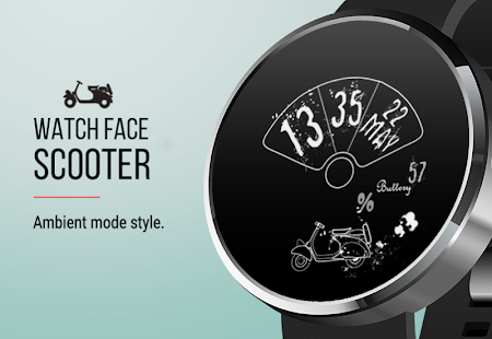 Let's Roll: Scooter Watch Face- screenshot thumbnail
