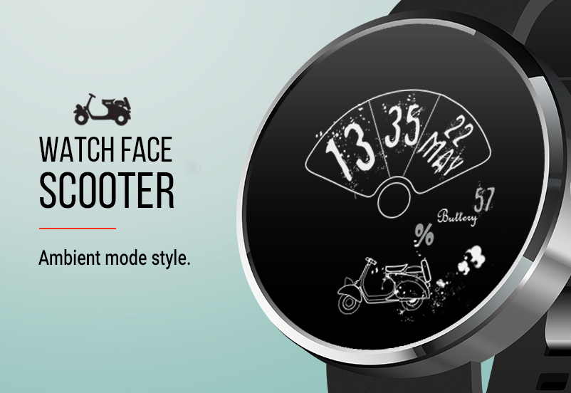 Let's Roll: Scooter Watch Face- screenshot