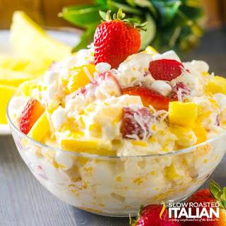 Strawberry Pineapple Ambrosia Salad.