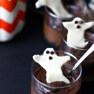 Chocolate Pot De Creme and White Chocolate Bark for Halloween (gluten free, paleo, nut free, soy free, vegan)