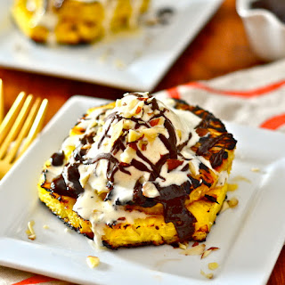 Grilled Pineapple with Mexican Chocolate Sauce