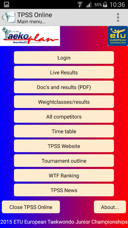 TPSS Online- screenshot