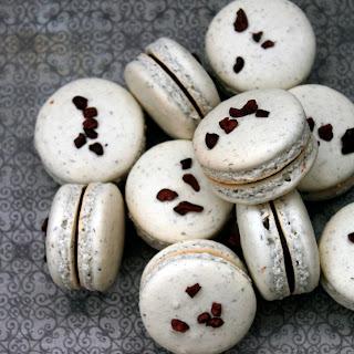 Lavender Chocolate Macarons.