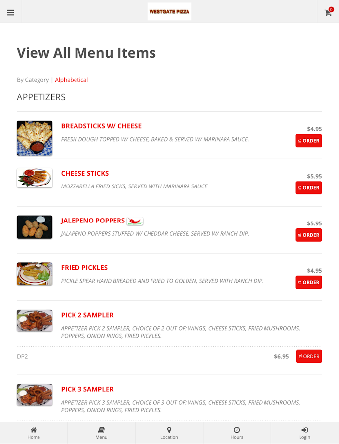 Westgate Pizza Online Ordering- screenshot