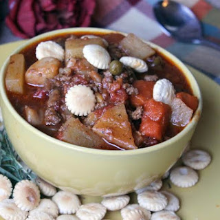 Hearty Hamburger Soup for the Crock Pot.