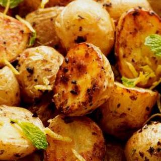 Roasted Baby Potatoes with Oregano and Lemon.