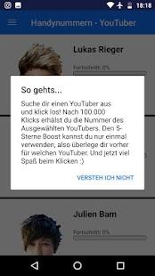Handynummern-YouTuber - náhled